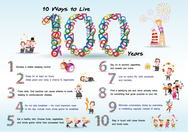 10 Ways to Live 100 Years