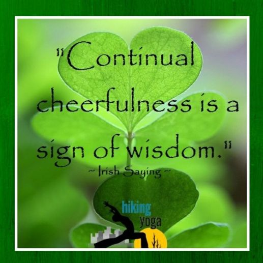Irish Proverb - Continual cheerfulness is a sign of wisdom