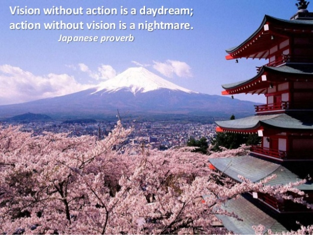 Japanese Proverb - Vision without action is a daydream