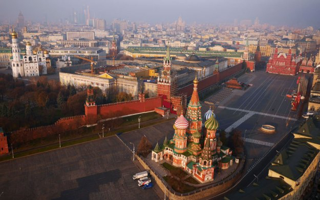 Kremlin, St Basil Cathedral and Red Square, Moscow, Russia