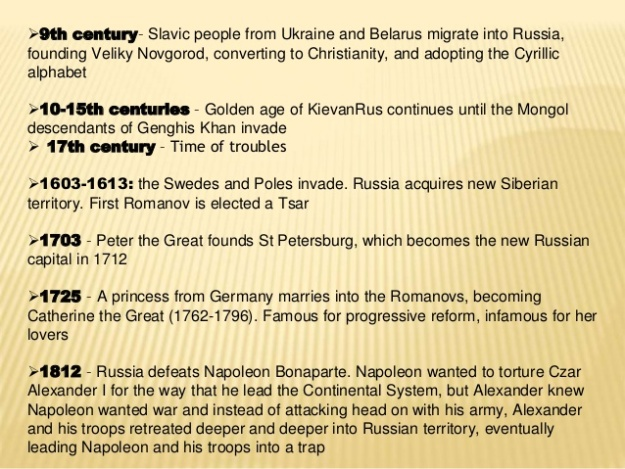 Russian History Timeline 1