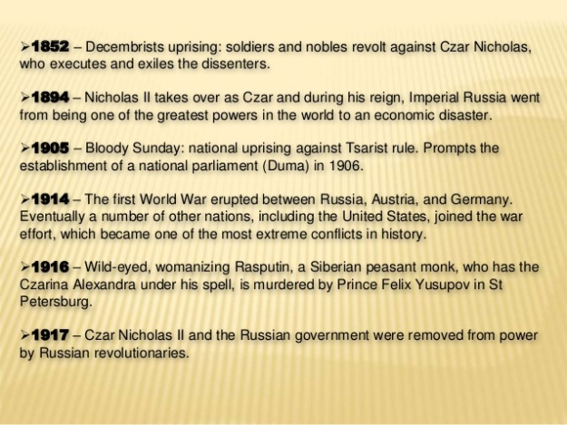 Russian History Timeline 2