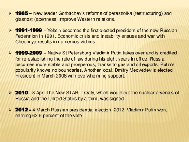 Russian History Timeline 4