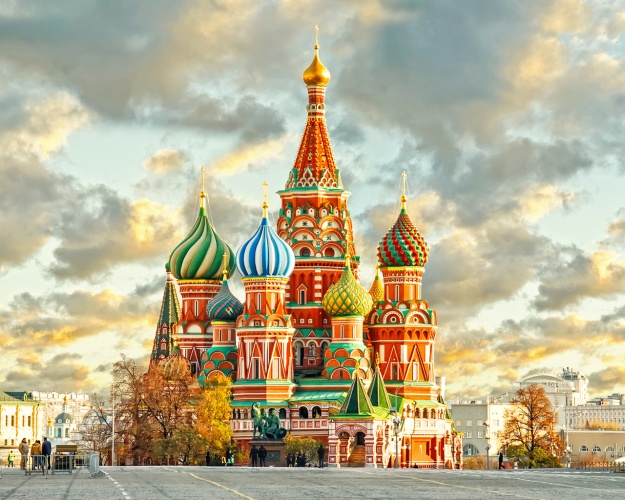 St Basil Cathedral and Sky in Moscow