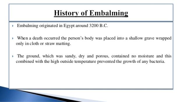 1 - Embalming