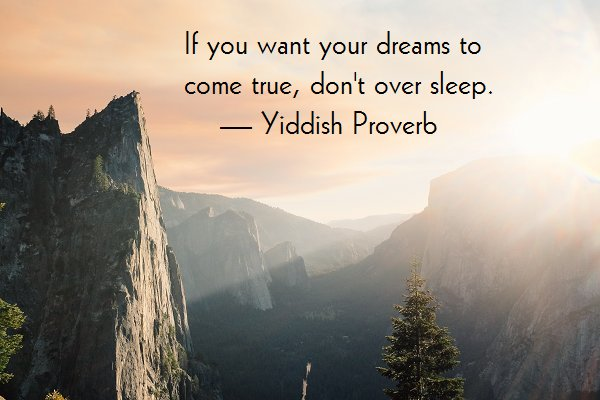 Yiddish Proverb about dream