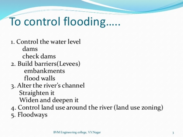 1 - Methods of Flood Control