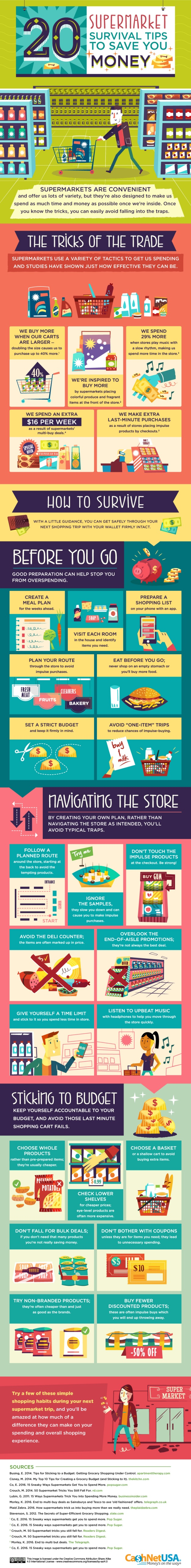 20 Supermarket Survival Tips to Save You Money