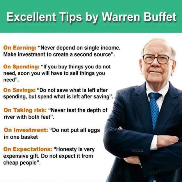 Excellent Tips by Warren Buffett