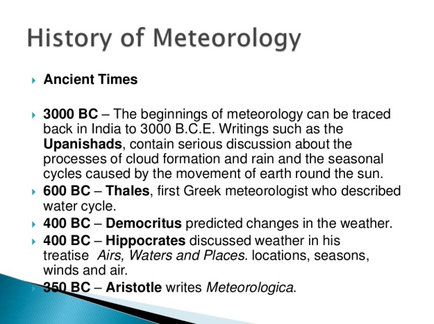 History of Meteorology 1