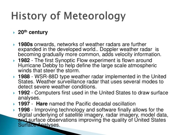 History of Meteorology 15