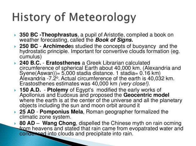 History of Meteorology 2