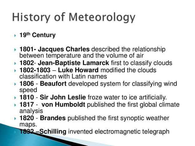 History of Meteorology 9