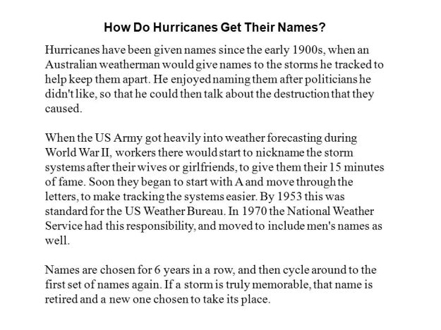 How Do Hurricanes Get Their Names