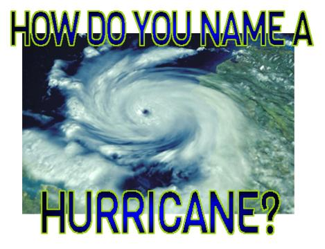 How Do You Name a Hurricane