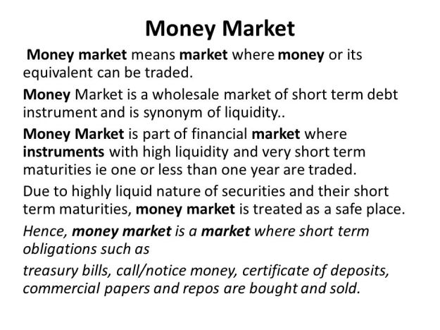 What is Money Market