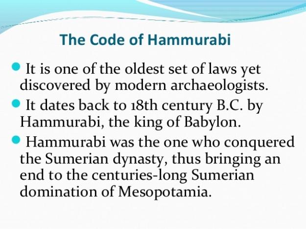 Code of Hammurabi 1