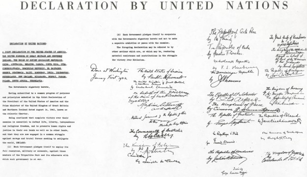 Document of Declaration of the Human Rights