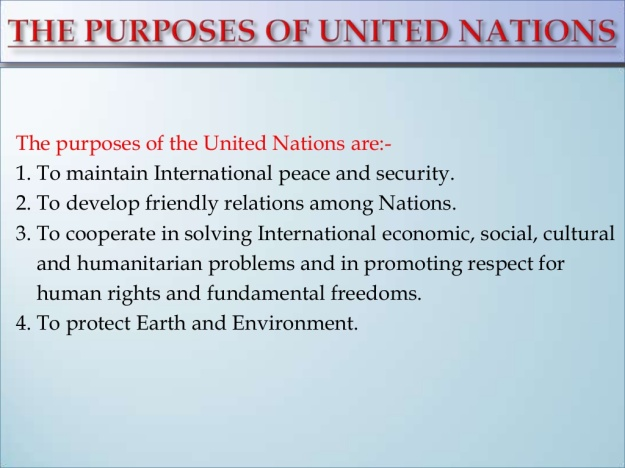 What is the Purpose of the United Nations