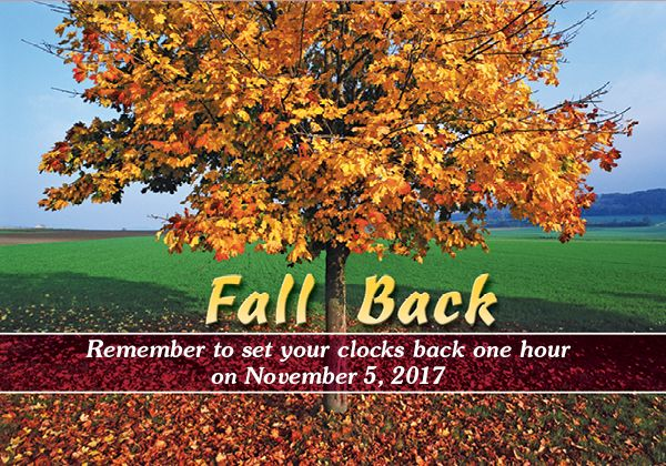 Fall Back on November 5, 2017