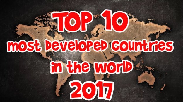 Top 10 Most Developed Countries in the World 2017
