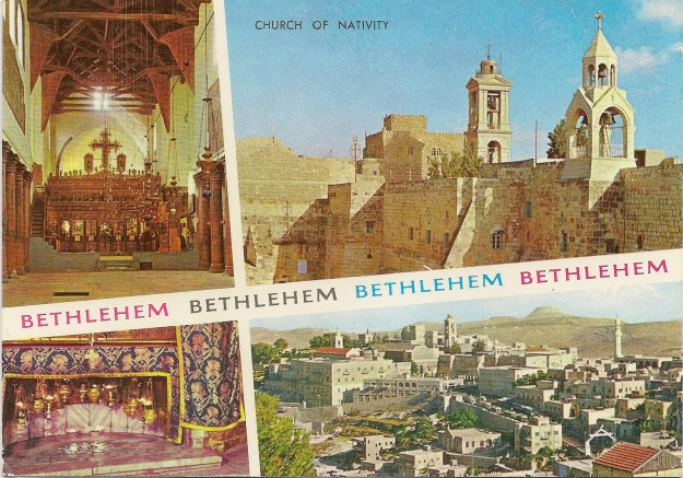 Bethlehem postcard sent to Wendy from her Uible Grandpartents 22-Feb-1992