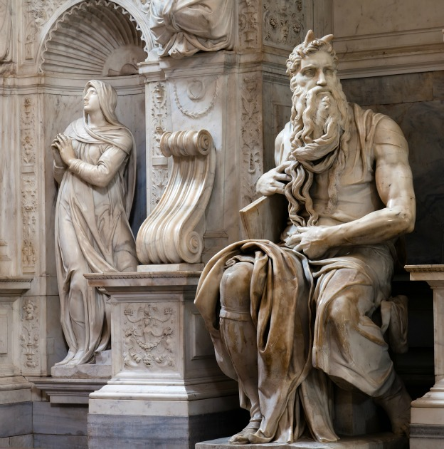 Moses by Michelangelo in San Pietro in Vincoli Rome Italy