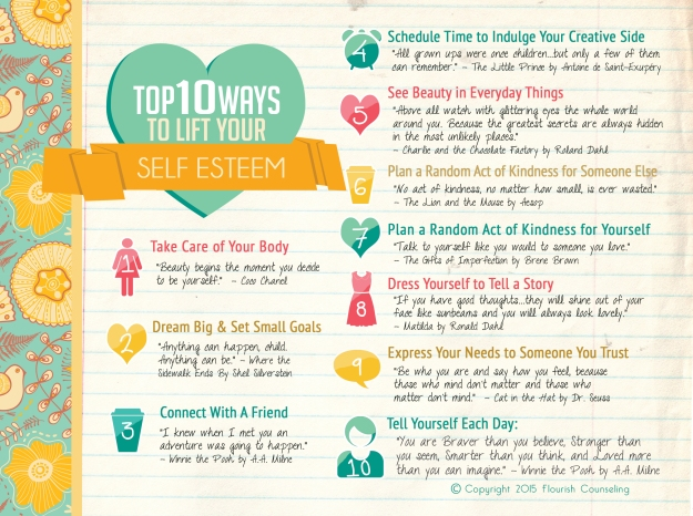 10 Ways to Lift your Self-Esteem