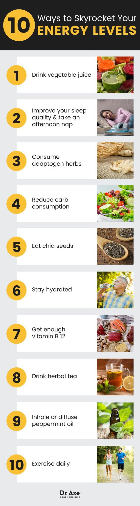 10 Ways to Skyrocket your Energy Levels