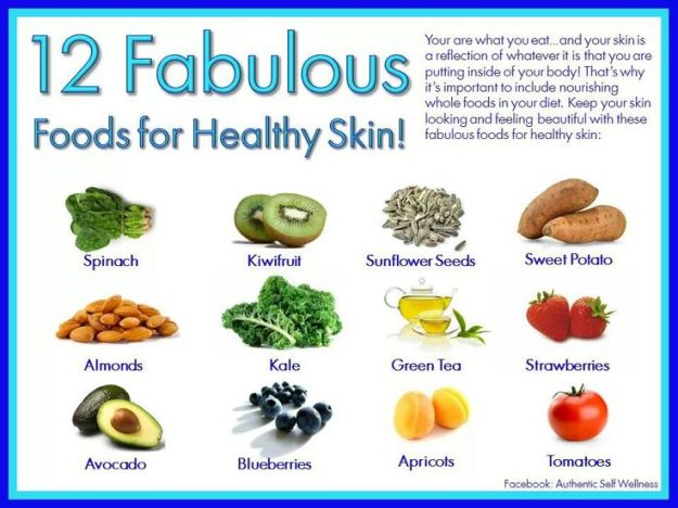 12 Fabulous Foods for Healthy Skin
