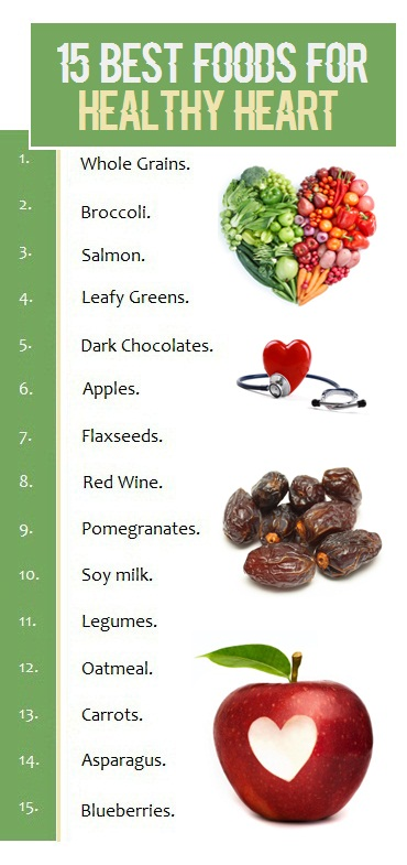 15 Best Foods For Healthy Heart