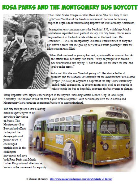 Rosa Parks Story