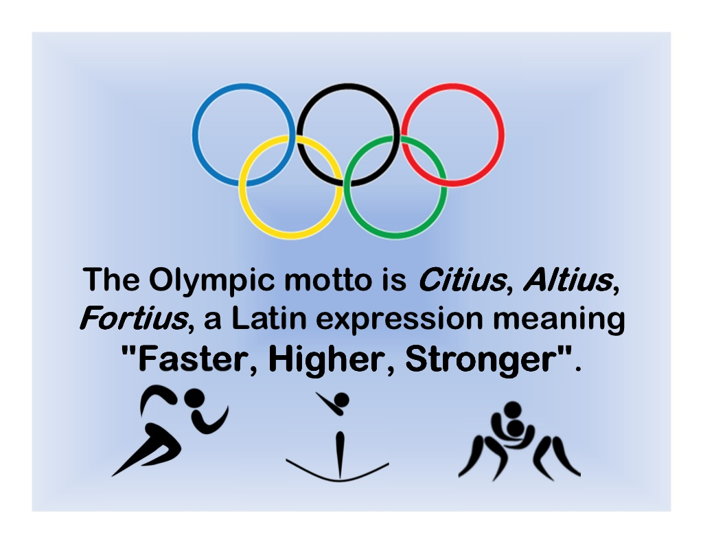 The motto of the Olympic Games: how it sounds, history and interesting facts 14