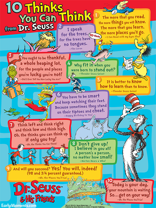 10 Thinks You Can Think from Dr. Seuss