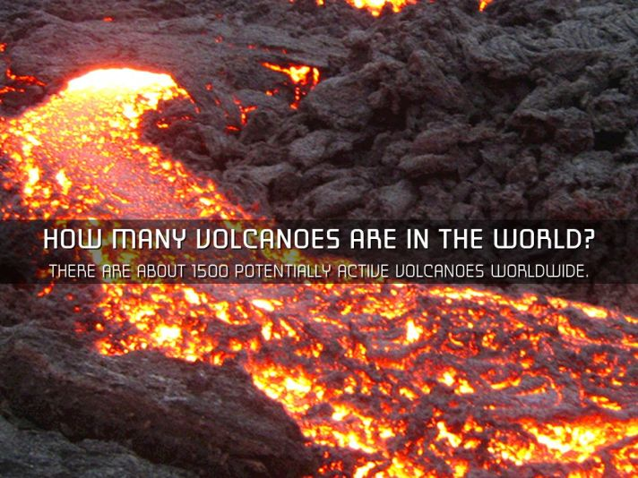 How Many Volcanoes are in the World
