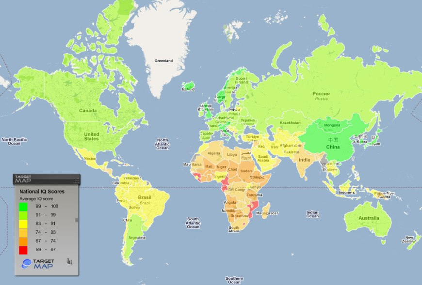 IQ Scores by Country