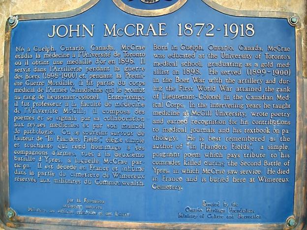 John McCrae 1872 - 1918