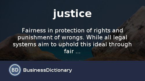 Justice Meaning