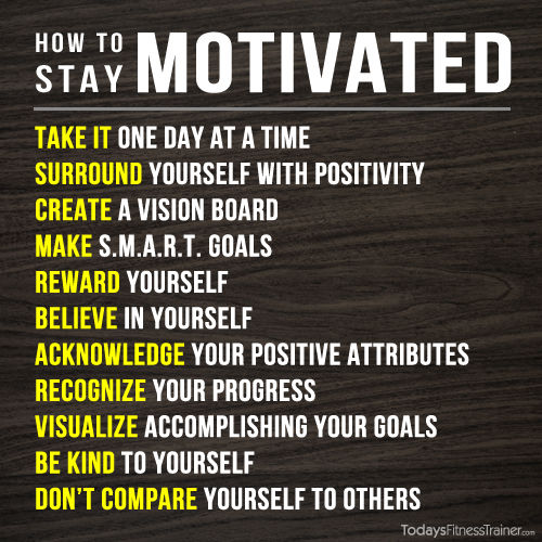 11 ways to stay motivated