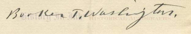 Booker T. Washington Signature
