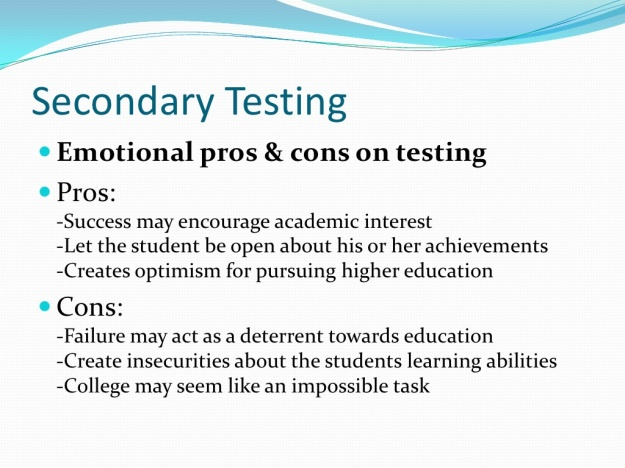 Pros and Cons of Standardized Testing 4