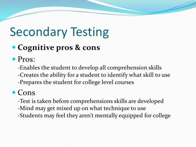 Pros and Cons of Standardized Testing 5