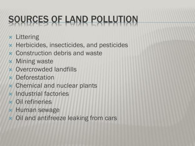 What are the Sources of Land Pollution