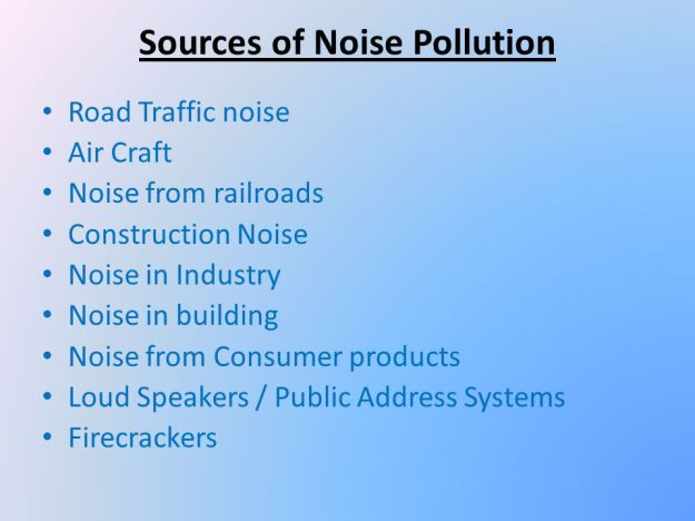 What are the Sources of Noise Pollution