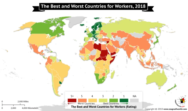 Best and Worst Countries for Workers in 2018