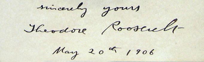 Theodore Roosevelt Signature