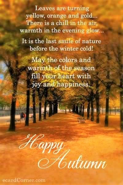Happy Autumn Poem