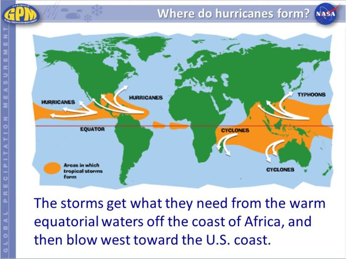 Where do Hurricanes form