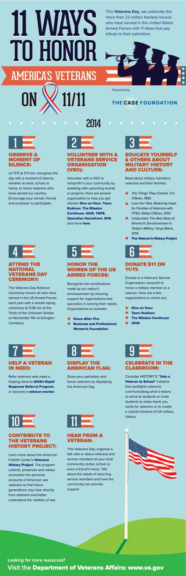 11 Ways to Honor America's Veterans on 11 - 11