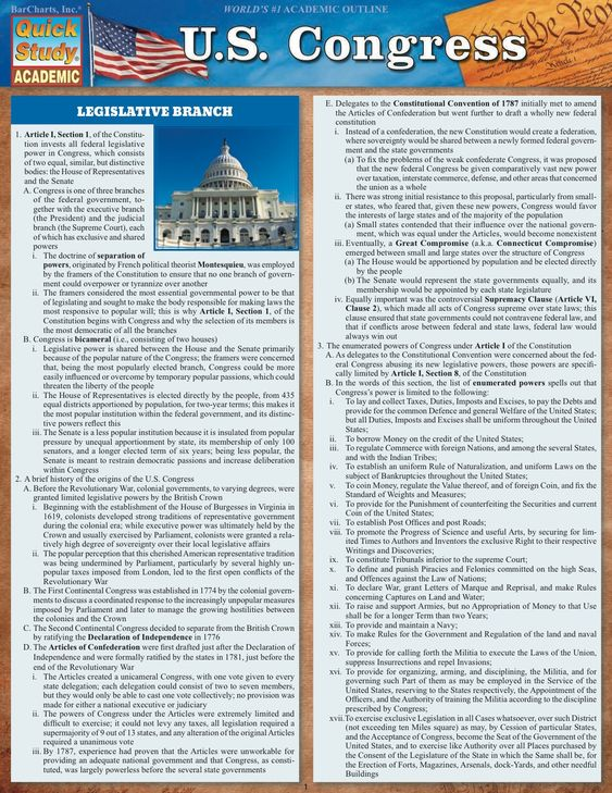 U.S. Congress Study Guide
